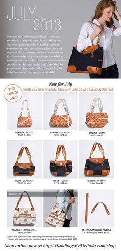 #Miche Bag July Releases. I love the new designs! #handbags #purses