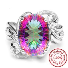 Aliexpress.com : Buy Feelcolor 13ct Rainbow Fire Mystic Topaz Brand New Hot Sale Genuine Solid 925 Sterling Silver Ring Vintage Fashion Jewelry from Reliable ring of suppliers on Jewelrypalace Feelcolor | Alibaba Group