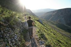 The Jesus Trail, which takes hikers between Nazareth and the Sea of Galilee, passes along the Arbel cliffs.