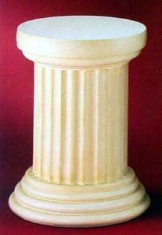 SHORT GREEK COLUMN PEDESTAL