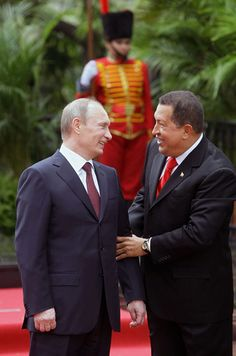 Vladimir Putin in Venezuela April 2010