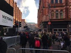 This morning in #Leeds #VictoriaGate #shopping #mall opened. I went down to observe and record the occasion. Here are some of the #crowds #queuing to get in on #VicarLane. #Yorkshire #news #IgersLeeds #Leeds2023 #LeedsBid #people #shop #retail #culture #travel #tourism #tourist #attraction #leisure #life #audience