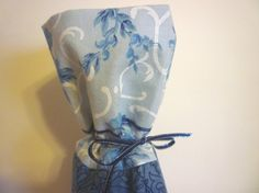Winter Wedgwood Blue Floral Wine Bottle Gift Bag  by TaMuidBeo, $6.00