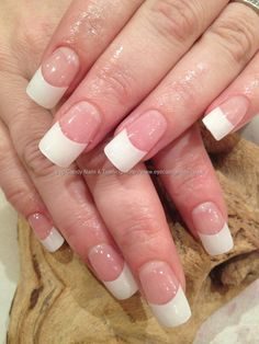 eye candy Nails & Training - Nails Gallery: White French acrylic nails by Elaine Moore on 2 February 2013 at French Acrylic Nails, French Manicure Nails, French Tip Nails, French Acrylics, Perfect Nails, Gorgeous Nails, Cute Nails, Pretty Nails, Essie