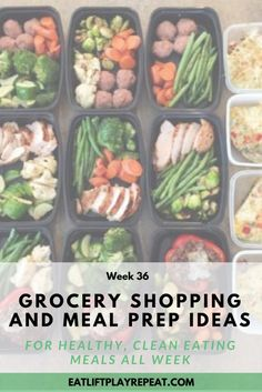 Meal prep is a huge part of my clean eating diet. It helps me save time and money, plus I know clean foods are going into my body. Click through for my meal prep ideas to help you prepare healthy meals for the whole week! All