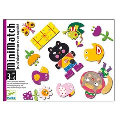 Jeu de cartes Minimatch Djeco trouver une illustration commune entre ses cartes et la carte meli-melo