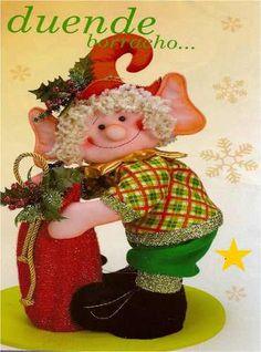 ¡Cómpralo ya! ¿No te alcanza? Vende tus cosas usadas ¡gratis! y junta dinero para llevártelo. Felt Christmas, Christmas Ornaments, Elves And Fairies, Wooden Tables, Fantasy World, Book Crafts, Crochet Hats, Dolls, Holiday Decor