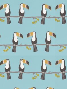 Terry Toucan, a feature wallpaper from Scion, featured in the Guess Who? collection.