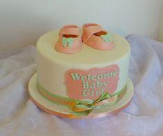 https://flic.kr/p/PvXovJ | Girls baby-shower cake