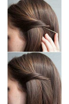 For those lazy, tiring, or busy days, try doing one of these 8 easy hairstyles for busy women. They& look stunning without a lot of effort. Trendy Haircuts, Girl Haircuts, Popular Haircuts, Hairstyles With Bangs, Weave Hairstyles, Straight Hairstyles, Wedding Hairstyles, Cool Hairstyles, Straight Updo