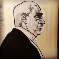 A Carson sketch in progress... (from Downton Abbey)