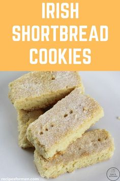 These very buttery Irish shortbread cookies are made with all Irish produce and taste just like the ones you get in the shops! Irish Shortbread Cookie Recipe, Biscuit Dessert Recipe, Traditional Shortbread Recipe, Irish Cookies, Buttery Shortbread Cookies, Shortbread Recipes, Tea Cookies, Cookie Recipes, Dessert Recipes
