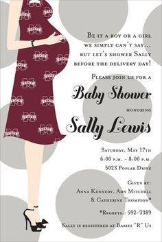 Mississippi State Baby Shower Invitations