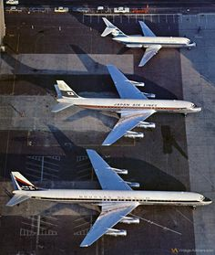 Vintage Airliners - Douglas Aircraft in Long Beach, CA 1960's - KLM DC-9, JAL DC-8, DC-8 Super 61 prototype