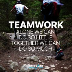 Together it works! Let´s get stronger together! #StepsApp #Motivation 👋