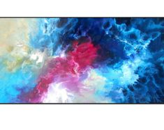 Vibrant Blue Pink Modern Art Painting. Original Abstract Painting on Stretched Canvas. Unique Modern Home Decor. Wall Art.