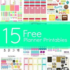Get your planner ready for the new year with these free planner printables.