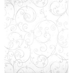 York Wallcoverings Walt Disney Kids II Perfect Princess x Scroll Wallpaper Color: White, Silver and Glitter