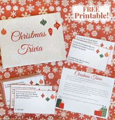 Free Printable Christmas Trivia - perfect for parties, for the family, or even as a gift!