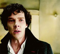 """This scene. This was death, this is when he flatlined. I'm fairly confident that he lied about trusting Mary because what Moriarty said, """"That wife! You're letting him down, Sherlock. John Watson is definitely in danger."""" was not Moriarty, it was Sherlock. That's all in his head. He believed that John Watson was in danger and cheated death (without all the smoke and mirrors) to try and fix things. That's kind of... interesting."""