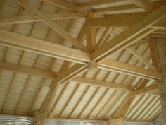 Porche, Roof Design, Carpentry, Beams, New Homes, Woodworking, Construction, How To Plan, Architecture