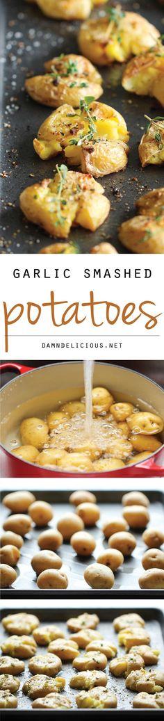 Garlic Smashed Potatoes -