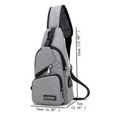 Men Large Size Outdoor USB Charging Port Chest Bag Travel Daypack Sling Bag Crossbody Bag For Men is hot-sale, many other cheap crossbody bags on sale for men are provided on NewChic. Shoulder Sling, Shoulder Bag, Cheap Crossbody Bags, Casual Bags, Travel Backpack, Bag Sale, Mens Fashion, Latest Fashion, Fashion Trends