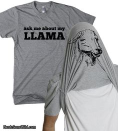 Kids Ask Me About My Llama T Shirt Funny Youth Llama Flip Shirt Llamas Tee