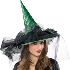 Deluxe Green Witch Hat - Party City
