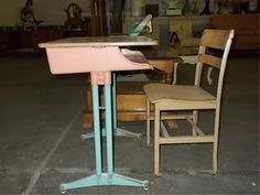 Though I went to school in the 80s, many of my classrooms still had its original furniture from 1956,
