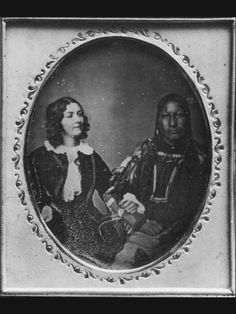 Lola Montez & Alights-on-a-Cloud Cheyenne chief, 1851/52