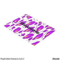Purple Lilies Custom Doormat