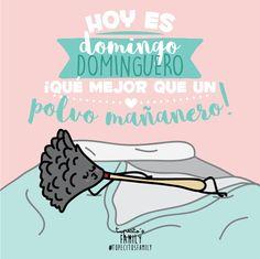 Ya es #domingo, y no hay nada mejor que empezar de esta manera!! #tupecitos #tupecitosfamily #dibujo #dibujosmolones #desayunomolon #polvo #polvomañanero #adisfrutar