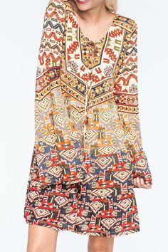 Pin for Later: All Laced Up: Autumn's Alternative to the Plunging Neckline Patrons of Peace Aztec Laceup Dress Patrons of Peace Aztec Laceup Dress (£37)