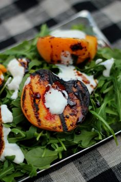 Grilled Peach & Ricotta Salad - The Garden of Eden - The Garden of Eden