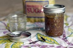 Made at home Vanilla Sugar Body Scrub $3 a 8oz. jar! #spa #athome #aromatherapy
