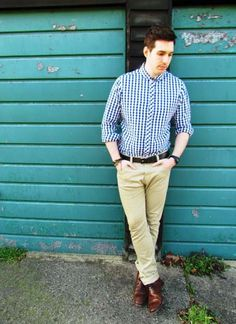 84512a3a Smart Style Interview Style, Uk Fashion, Fashion Outfits, Gingham Shirt,  Smart Styles