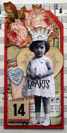 Sugar Lump Studios - Art by Nancy Maxwell James Diy Valentines Cards, Love Valentines, Valentine Heart, Joseph Cornell, Tags Ideas, Alternative Art, Handmade Tags, Junk Art, Heart Crafts