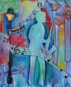 "Bourbon Street Blues"" Original New Orleans French Quarter Painting ..."