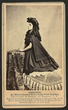 "Rebecca 1863 mixed race ancestry. Historic Photographs Of ""White"" Slaves"