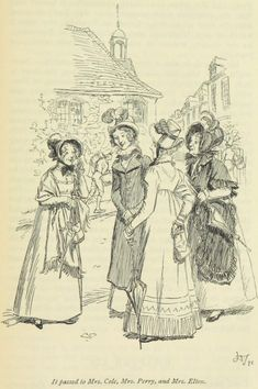 Jane Austen Emma - it passed, of course, to Mrs. Cole, Mrs. Perry, and Mrs. Elton