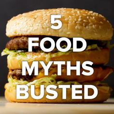 5 Food Myths You Thought Were True #gluten #eggs #cholesterol #myths