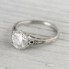 .98 Carat Diamond Solitaire Vintage Engagement Ring | Erstwhile Jewelry Co.