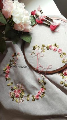 Brazilian Embroidery Designs Flowers for Embroidery Machine across Embroidery Floss Embroidery Designs, Rose Embroidery, Silk Ribbon Embroidery, Hand Embroidery Patterns, Embroidery Thread, Cross Stitch Embroidery, Machine Embroidery, Brazilian Embroidery Stitches, Ribbon Work