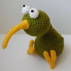 Crochet  Kiwi bird  Amigurumi bird Kiwi bird Amigurumi toy present crochet bird (24.00 USD) by FunnyAmiToys