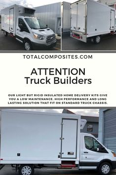 Our refrigeration truck body kits combine an attractive appearance with low weight and unbeatable insulation value. Call us today for more information.
