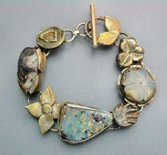 Los ópalos y elementos oro pulsera