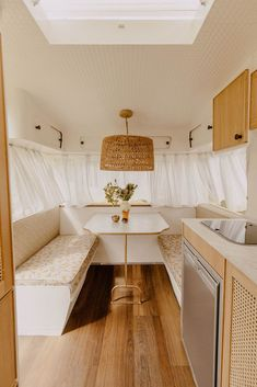 Michael and Carlene have just finished renovating their fourth vintage caravan called 'Bumblebee' – inspired by its sunny yellow exterior - which they will be auctioning off on March 26. Take a look inside the retro home on wheels and find out how you could be the new owner.