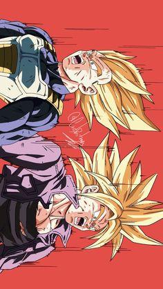 Vegeta & Trunks By: CatDestroyer - Roblox Dragon Ball Z, Dragon Ball Image, Vegeta And Trunks, Dbz Drawings, Art Graphique, Illustrations, Manga Illustration, Fan Art, Anime Characters