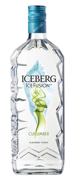 Iceburg Ice Fusion vodka and cucumber PD